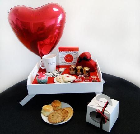 kit desayuno para san valentín