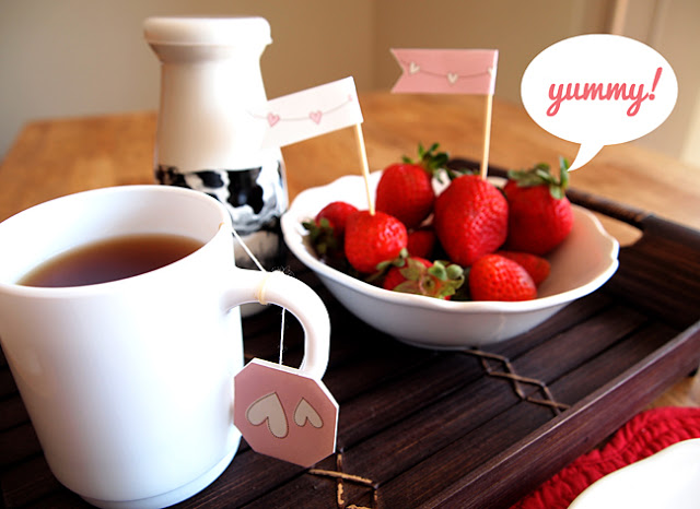 kit desayuno san valentín